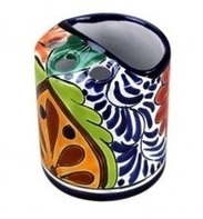 Talavera Tooth Brush Holder | Talavera Mexican Pottery | Scoop.it