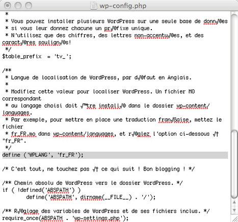 Changer la langue d'installation de WordPress sans danger | WordPress Maroc | Scoop.it