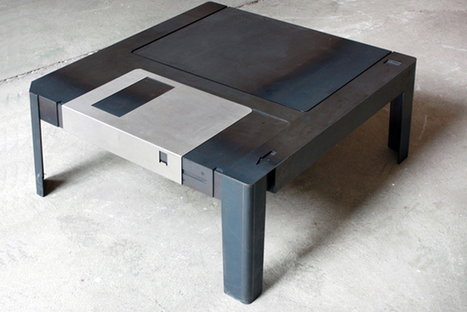 Floppy Table, a wonderfully designed 3.5″ floppy disk coffee table | Mise and Plus+ | Scoop.it