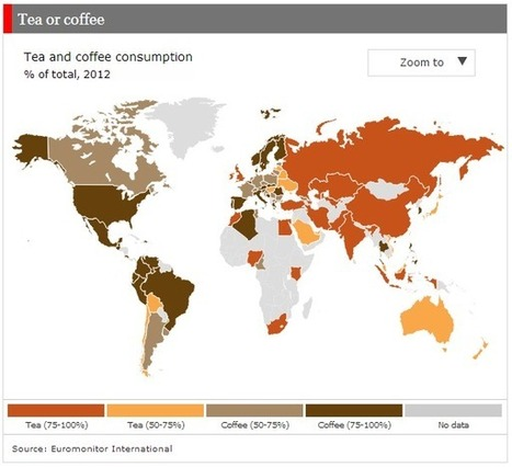 Chart of the Week: Coffee and tea around the world | GEOPOLITICS | Scoop.it
