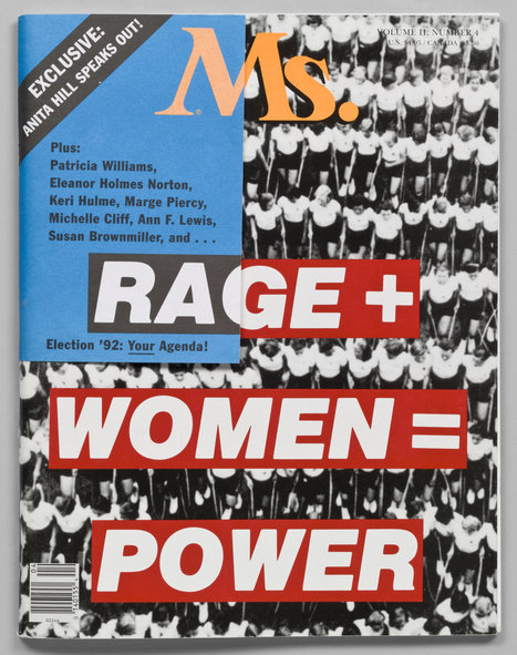 Barbara Kruger. Rage + Women = Power, cover for Ms. magazine. January/February 1992 | MoMA | Fabulous Feminism | Scoop.it