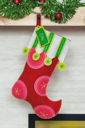 Polka Dot Christmas Stocking - Felt Applique Kit | Christmas stocking ideas | Scoop.it
