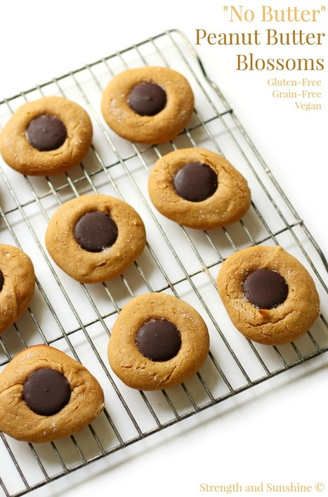 """""""No Butter"""" Peanut Butter Blossoms 