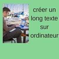 créer un long texte sur ordinateur avec un traitement de texte   assistances informatiques   Scoop.it