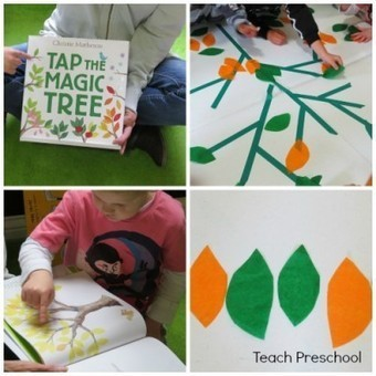 Tapping our own magic table top tree | Teach Preschool | Scoop.it