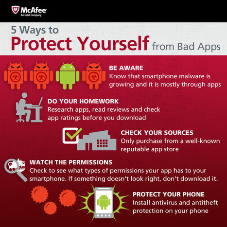 Download with Caution! McAfee Identifies Risky Mobile App Sources [Infographic] | Apps and Widgets for any use, mostly for education and FREE | Scoop.it