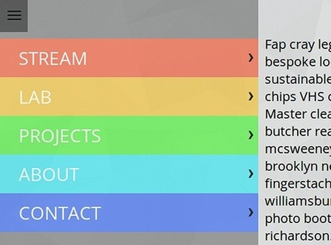 Responsive Menu Concepts | CSS-Tricks | Responsive Nav Bars | Scoop.it