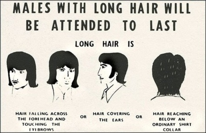 Males With Long Hair Will Be Attended To Last | Kitsch | Scoop.it