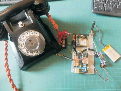 "1930s-Era 'General Post Office' Rotary Telephone Upgraded with FONA, #Arduino Mega, ""Music Maker"" Shield 
