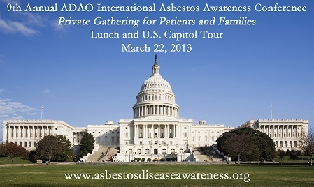 Asbestos Disease Awareness Organization: Private Gathering for Patients and Families at ADAO Conference: Lunch and U.S. Capitol Tour | Asbestos and Mesothelioma World News | Scoop.it