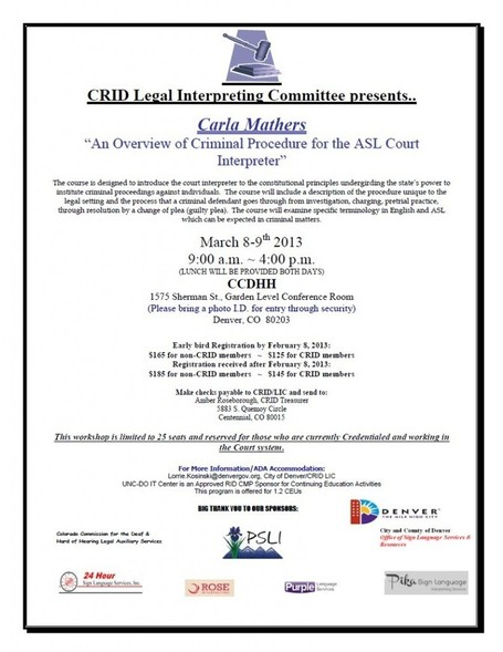 Legal Interpreting Workshop, March 8 - Rose Sign Language Interpreting | All About Bilingual , Languages,Translation | Scoop.it