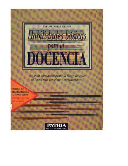 Libros y materiales educativos: Habilidades básicas para la docencia | Educacion, ecologia y TIC | Scoop.it