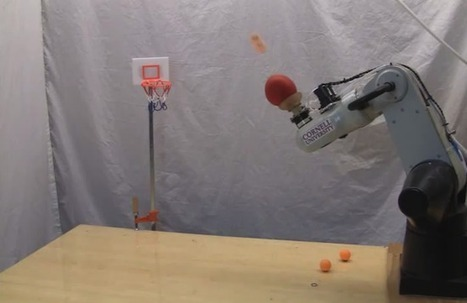 Robot Shoots Baskets, Makes Bullseyes Without Hands or Anything Even Like Hands - Geekosystem   Robots and Robotics   Scoop.it