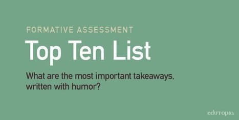 10 Fun-Filled Formative Assessment Ideas | Each One Teach One, Each One Reach One | Scoop.it