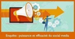 Enquête : puissance et efficacité du social media | web by Lemessin | Scoop.it