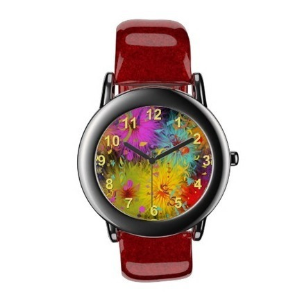 Colorful Fuzzy Splat and Confetti Template Wristwatch | Z Artwork | Scoop.it