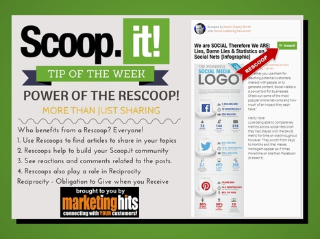 Scoop.it Tip of the Week - POWER OF THE RESCOOP! | Social Media in Manufacturing Today | Scoop.it