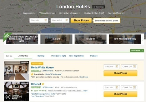 TripAdvisor gives high profile spot to paying hotels in new ad test | Tourism Social Media | Scoop.it