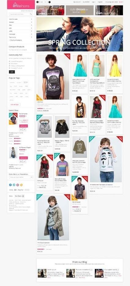 EM Fashionist, Magento Retina Ready Fashion Theme | Premium Download | Premium Magento Themes | Scoop.it