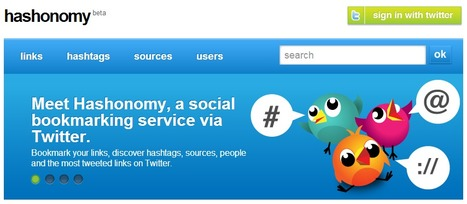 Hashonomy - Social bookmarking via Twitter | Time to Learn | Scoop.it