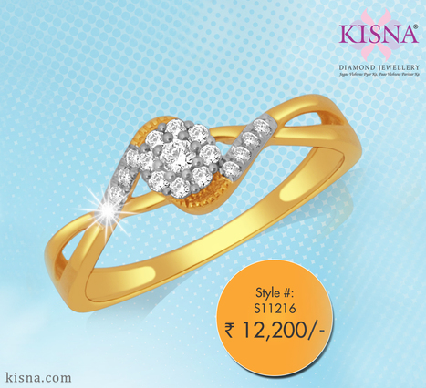 Simplicity at its best! This lovely Kisna diamond ring is the perfect gift for her!   Gold Diamond Jewellery Designs   Scoop.it