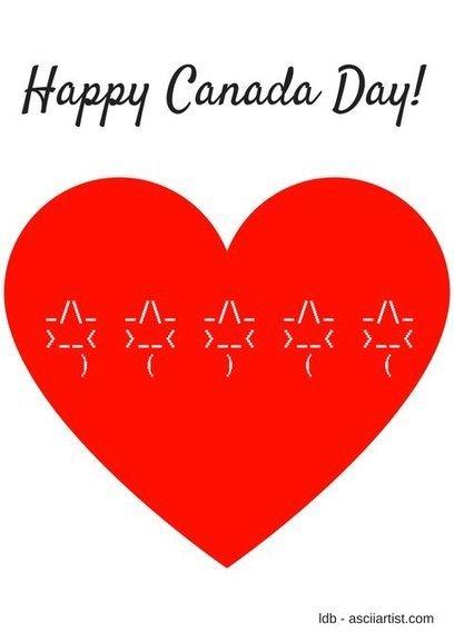 Tweet from @thatgrrl - Happy Canada Day | ASCII Art | Scoop.it