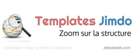 Webdesign Jimdo : comprendre les templates | Webdesign, Créativité | Scoop.it