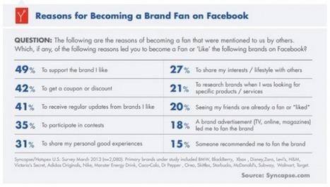 Pourquoi les gens deviennent des Fans sur Facebook ? [Etude] | Emarketinglicious | Web 2.0, réseaux sociaux, ... | Scoop.it