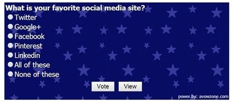 How to Add Poll in any Site without Plugin - AVOWZONE | Blogging Tips | Scoop.it