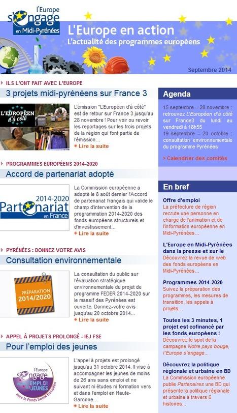 Au sommaire de L'Europe en action en septembre... | Europe en Midi-Pyrénées | Scoop.it
