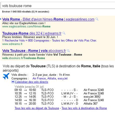 Google optimise son outil de recherche de vols sur ses pages de résultats | IceRanking® | Hotels | Scoop.it