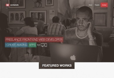 Twitter Bootstrap 3 - Workaholic Portfolio | website and email templates | Scoop.it