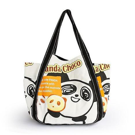 ILEA - [Panda Choco] 100% Cotton Eco Canvas Shoulder Tote Bag / ladies clothing | homeschooling | Scoop.it