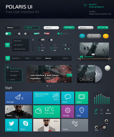 Free Flat UI Kits to Boost Your Designs in No Time (Part-1) | Designhill | Scoop.it
