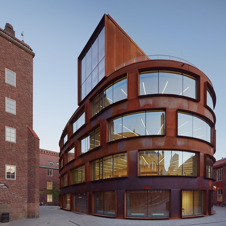 Tham & Videgård's architecture school has pre-rusted steel skin | Inspired By Design | Scoop.it