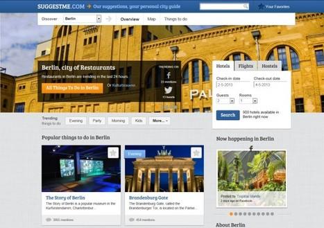 SuggestMe. Un guide de voyage basé sur les réseaux sociaux | Time to Learn | Scoop.it