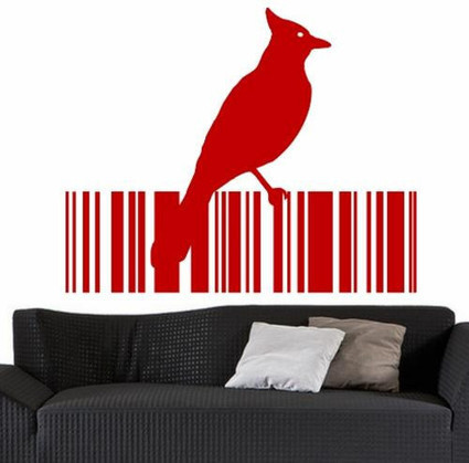 BIRD BARCODE 14 WALL ART STICKER LARGE VINYL DECAL | 2D Barcodes Today | Scoop.it