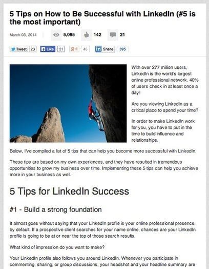 How to Benefit from the LinkedIn Publishing Platform | | Social and Content Marketing Best Tips | Scoop.it