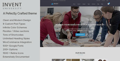 Invent v1.4 - Education Course College WordPress Theme - Yocto Templates | YOCTO WordPress Themes & Plugins | Scoop.it