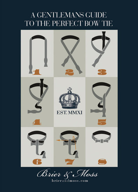 How To Tie A Bow Tie | 8 types of infographs | Scoop.it