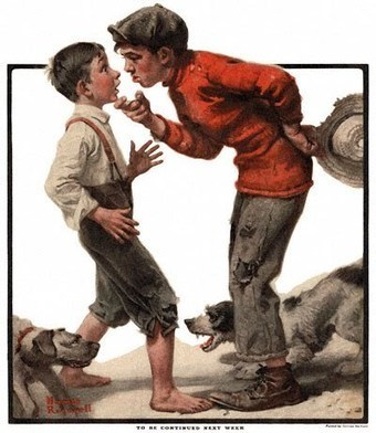 Normal Sibling Rivalry or Bullying? | Riverside, CA sibling conflict- Norman Rockwell – Bullying Prevention | Scout | Scoop.it