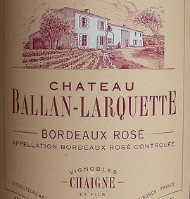 Chateau Ballan-Larquette Bordeaux Rose 2009 Wine Review | Wine Welfare | Bordeaux wines for everyone | Scoop.it