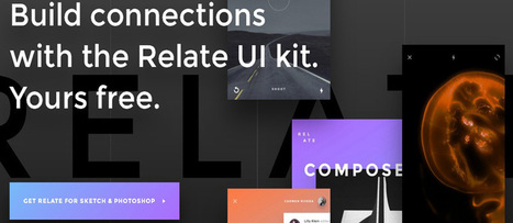 Free Relate UI Kit (45 templates, 15 categories, 99+ UI elements) | web2Partner | Scoop.it
