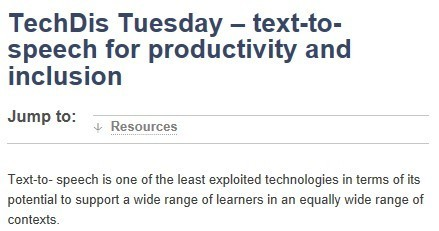 JISC TechDis - Online Resource   Inclusive teaching and learning   Scoop.it