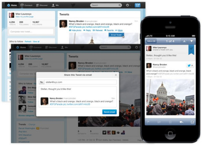Twitter adds 'Email Tweet' button to its website | Business in a Social Media World | Scoop.it