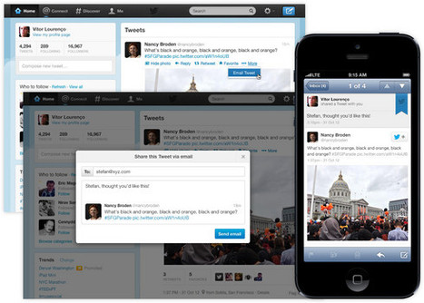 Twitter adds 'Email Tweet' button to its website | Marketing Planning and Strategy | Scoop.it
