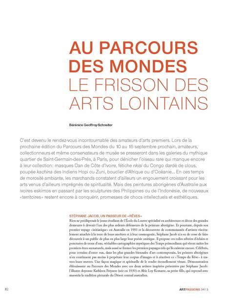 Arts Passion, Sept.13 | Parcours des Mondes 2013, le salon international des arts premiers | Scoop.it