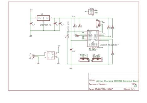 An esp8266 Lithium Charging Breakout PCB | Arduino, Netduino, Rasperry Pi! | Scoop.it