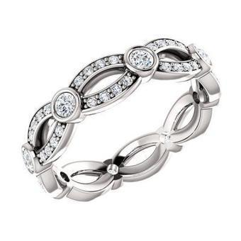 My Bridal Ring - Infinity Twist Diamond Wedding Band in Los Angeles | Diamond Band | Scoop.it