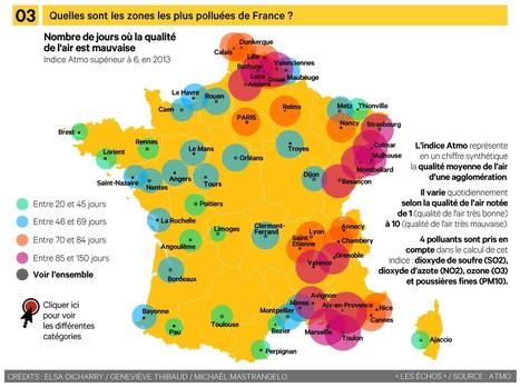 [infographie] Quelles sont les zones de France où l'air est le plus pollué  ? | Toxique, soyons vigilant ! | Scoop.it